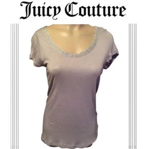 Juicy Couture Gray Tee Shirt S